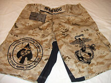 USMC MARINES MARSOC MAR-SOC DESERT  MMA PT BOARD SHORTS FIGHT SHORT SIZES S-3XL