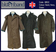 BLUE RIBAND MENS/LADIES 100% WAXED COTTON JACKET COAT CAPE RAINCOAT