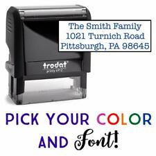 Custom Rubber Stamp - Personalized 5 Line Rubber Stamp - (Trodat 4914)