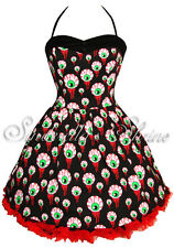 Hell Bunny HALLOWEEN Gore~EyeBaLL~Party Dress GOTH 6-16