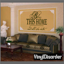 Bless this home Family and Friends Vinyl Wall Decal Quotes EN003BlessthisI