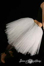 White Romance dance tutu skirt petticoat extra poofy knee length Adult bridal