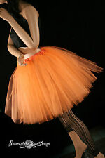 Orange Romance dance tutu skirt petticoat extra poofy knee length bridal adult