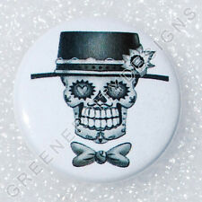 Y1 - Day of the Dead Skull - Skeleton, Bow Tie Hat, Wedding, Festival, Calavera