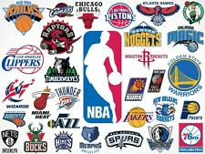 NBA Static Cling Decal-Pick your team NEW! Car Window! Free shipping! Reusable