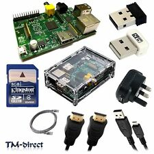 Starter Kit For Raspberry Pi WIFI Case SD 4 8 GB USB HDMI Network Cable Raspbian
