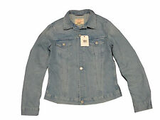 LADIES LEVIS RED TAB SLIM FIT WESTERN DENIM JACKET - LIGHT BLUE