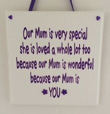 Special Mum - Handmade wooden plaque - Mothers day keepsake gift