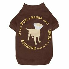 "Dog Tee Shirt ""It's All Fun and Games Until Someone Ends Up in a Cone"" High-Cut"