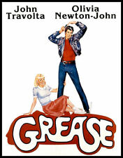 GREASE Travolta Newton-John retro classic movie T SHIRT Ladies 8 colours 5 sizes