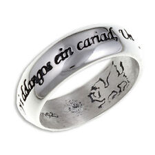 ST JUSTIN WELSH LOVE RING IN STERLING SILVER