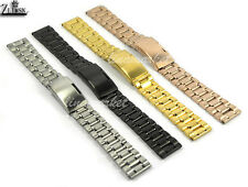 18mm~24mm NEW MENS STAINLESS STEEL ROSE GOLD PVD Watchband BANDS Bracelets S1