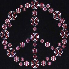 Baseball / Softball PEACE sign bling t-shirt - you pick the size and the color