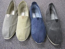 NEW MENS CANVAS FLAT SHOES SLIP ON SLIPPER FASHIONABLE COMFORT