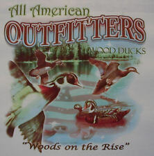 ALL AMERICAN OUTFITTERS WOOD DUCKS WOODS ON THE RISE HUNTER SHIRT #483