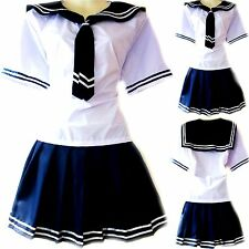 Schulmädchen/Matrose-Uniform Japan/China/Cosplay Kostüm Karneval Navy Gr. S/M/L