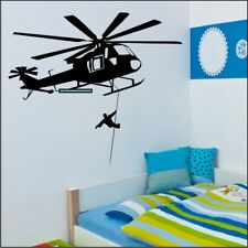 RESCUE HELICOPTER wall decal bedroom office vinyl wall stickers