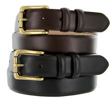 Mens Dress Belt ,Golf Belts Smooth Calf Skin Leather Belt New Black Brown Arhtur