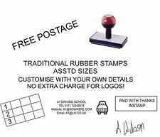 RUBBER STAMP CUSTOM MADE/ PERSONALISED NAME/ADDRESS/SIGNATURE/ACCOUNTS etc