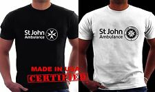 Doctor Who Tardis St John Ambulance Logo Men's Black / White  T-shirt S-3XL