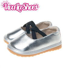 Girls Infant Toddler - Squeaky Shoes - Metallic Silver