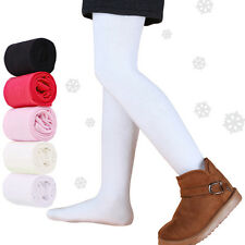 NEW Girls Thick WinterTights/Stocking in White-Black-Creme-Pink-Red sz 000-8YR