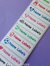 50 Iron on School Children Clothes Name Labels Tapes Tags ~ You choose image!