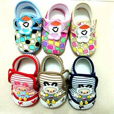Unisex Baby Toddler Infant Soft Sole Crib Walking Shoes 0-18 Months New 2 Types