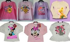 GIRLS MINNIE MOUSE, TINKERBELL, LITTLE MISS, TATTY TED LONG SLEEVE TOP 3 TO 12 Y