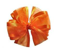 Sheer Double Layer Hair Bow (21 Colors Available)