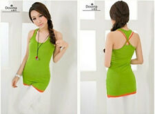 Women's Vests Undershirt Singlet Tank Tops Elastic Cami Ladies Sleeveless Shirt