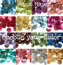 100 Natural Shell Coin Drops Charms 15mm ~ Pick your Color!