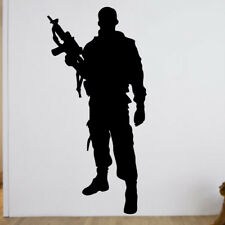 Army Soldier Wall Sticker boys bedroom vinyl graphic kids decal sticker soldiers