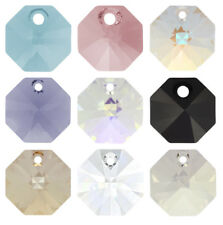 SWAROVSKI ELEMENTS 6401 Octagon Pendant Many Colors & Sizes