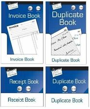 INVOICE BOOK RECEIPT BOOK FULL AND HALF SIZE DUPLICATE BOOK NUMBERED 1-100 NEW