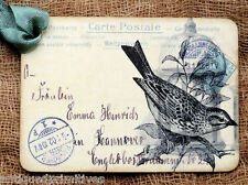 Hang Tags  FRENCH PARIS BLACK BIRD POSTCARD TAGS or MAGNET #209  Gift Tags
