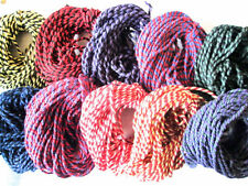 10mts Twin Colour Thick Cotton Bakers Twine. Choice of Colour. Vintage gift wrap