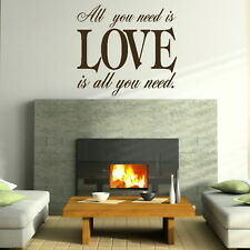 All You Need Is Love Beatles - Song Lyrics Quote / Song Lyric Wall Quote niq4