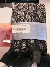 BEBE Stockings Tights fishnet 205877 thigh high lace black one size