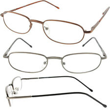 Mens or Womens Reading Glasses Oval Lens Thin Metal Frames Contemporary Design