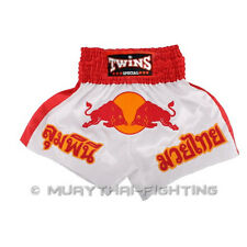 New !! Twins Special Muay Thai Shorts Red Bull TBS-05-White