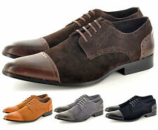 New Mens Faux Suede Casual Formal Lace Up Brogue  Shoes UK Sizes 6 7 8 9 10  11