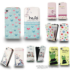 NEW STYLISH LEATHER FLIP CASE COVER FOR APPLE IPHONE 4 4S FREE SCREEN PROTECTOR