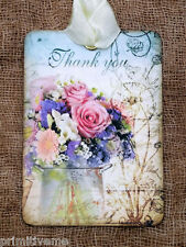Hang Tags  THANK YOU FRESH FLOWER BOUQUET TAGS or MAGNET #206  Gift Tags