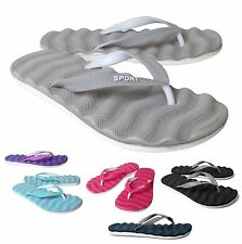 NEW Women's Wavy Rubber Flip Flop Thong Sandal PINK GRAY BLUE PINK Size 5 to 13