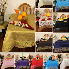 Hand Embroidered Rectangular & Square Tablecloths - Table Decor - Unique Colors