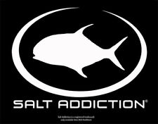 Salt Addiction Decal,Marlin fishing sticker,deep sea fishing,rod,reel,life
