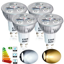 UK Buy 8 Get 2 Free 4/10 x GU10 4W Spot LED Bulbs Spotlight Warm /Day White Lamp