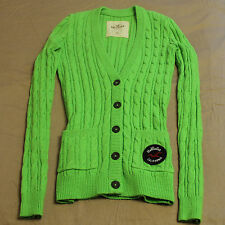 Hollister Womens Cable Knit Button Sweater Cardigan Jumper Jacket by Abercrombie