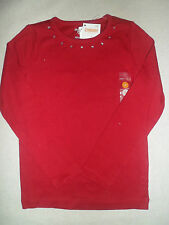 Gymboree SWEET TREATS Red Gem Basic Solid Top Shirt NWT Winter Holiday Christmas